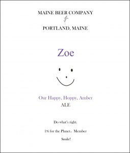 Product - Maine Beer Company Zoe
