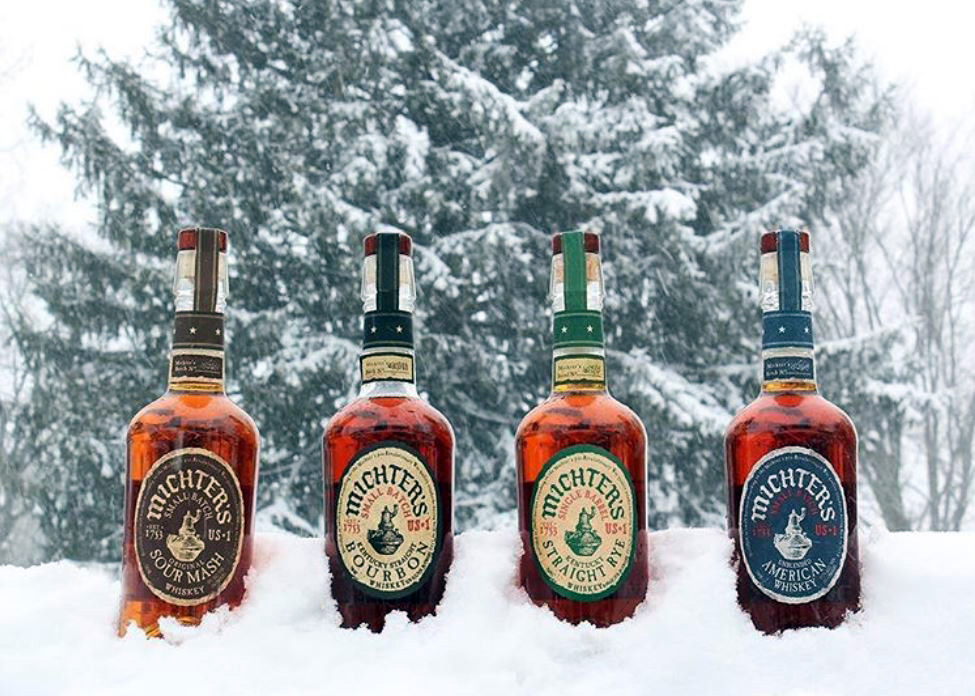 michters lineup in the snow