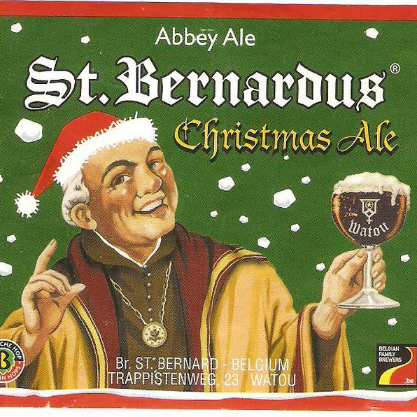 st bernadus christmas ale label