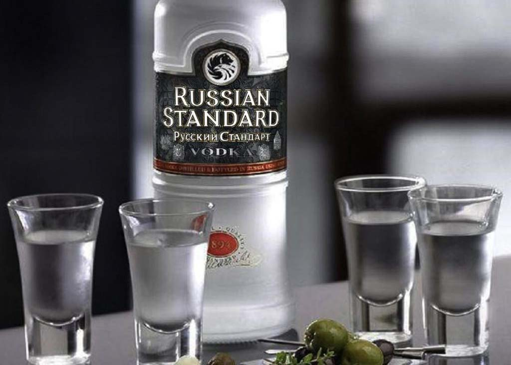 russian standard vodka beauty shot
