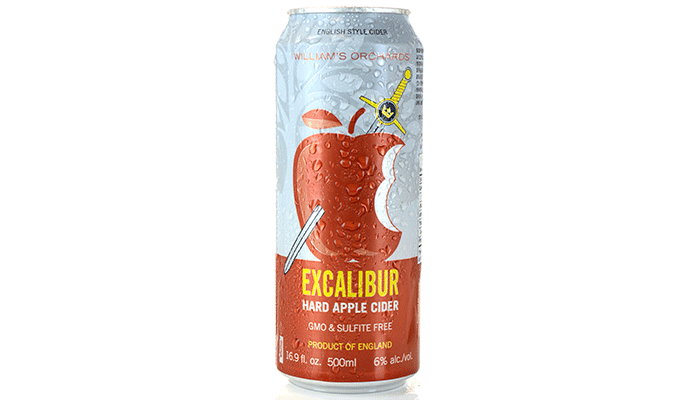 William's Orchards Excalibur Hard Apple Cider