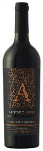 Production Label, Domestic, Assembly line Bottle Shot Apothic Brew red blend Infused with cold brew coffee 750ml  011918 GH