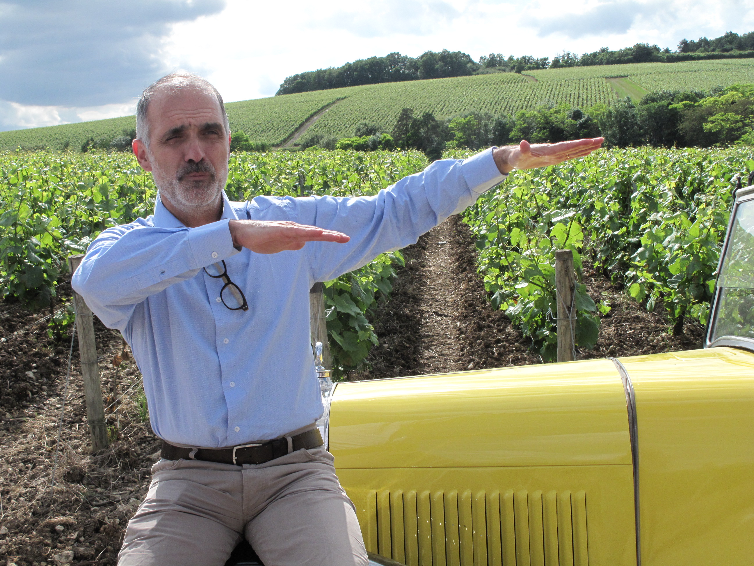 2.2 Michel Drappier in the vineyards