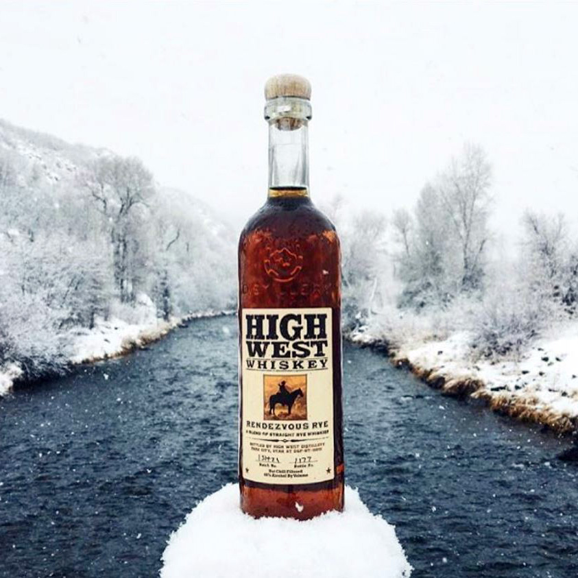 high west rye in the snow