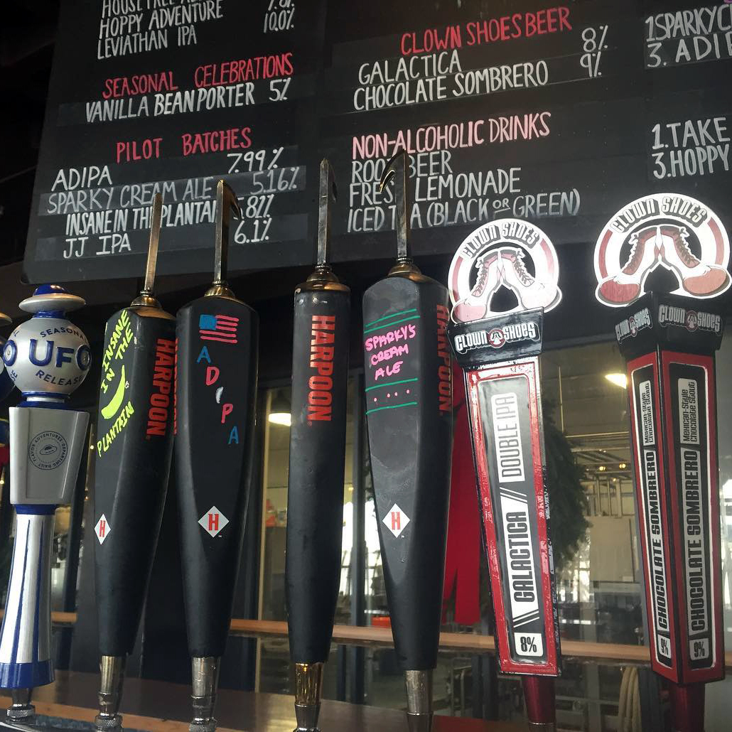 Pic 06 Tap handles in Beer Hall
