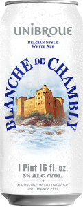 Unibroue Blanche de Chambly 16oz can