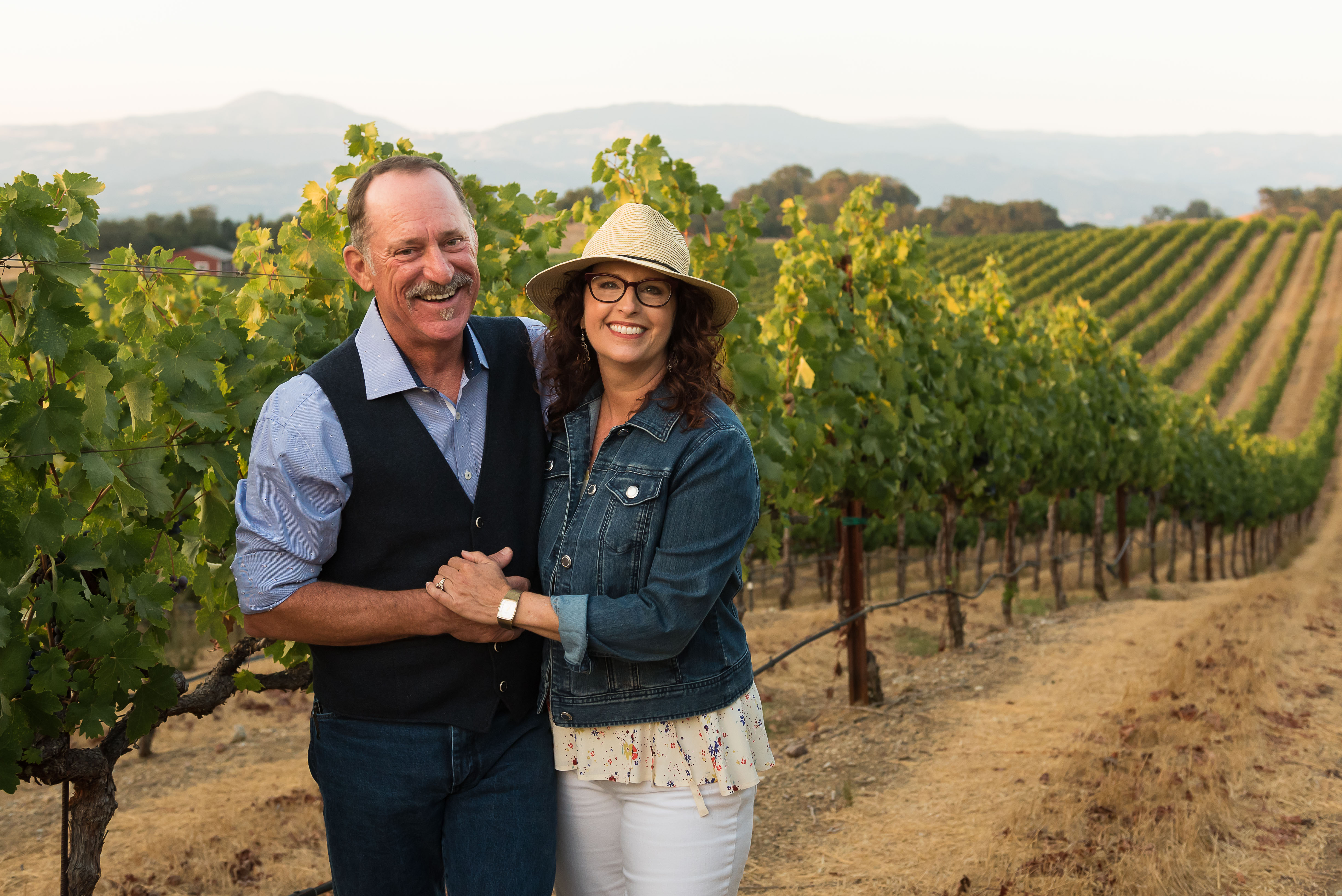 Dry Creek Vineyard: Don Wallace and Kim Stare Wallace in Endeavour Vineyard